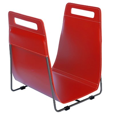 Ferrari Opus Focus Corrium Log Carrier - With Stand Red Grey Iron Stand