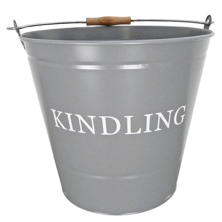 Manor Large Kindling Wood Bucket - Grey