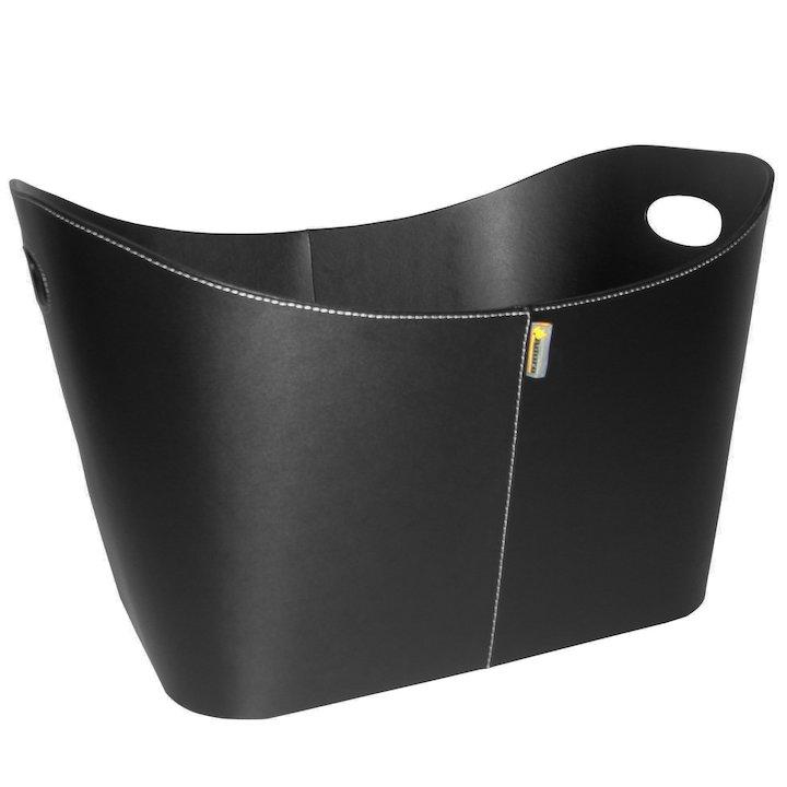 Aduro Baseline Rectangular Log Basket - Black