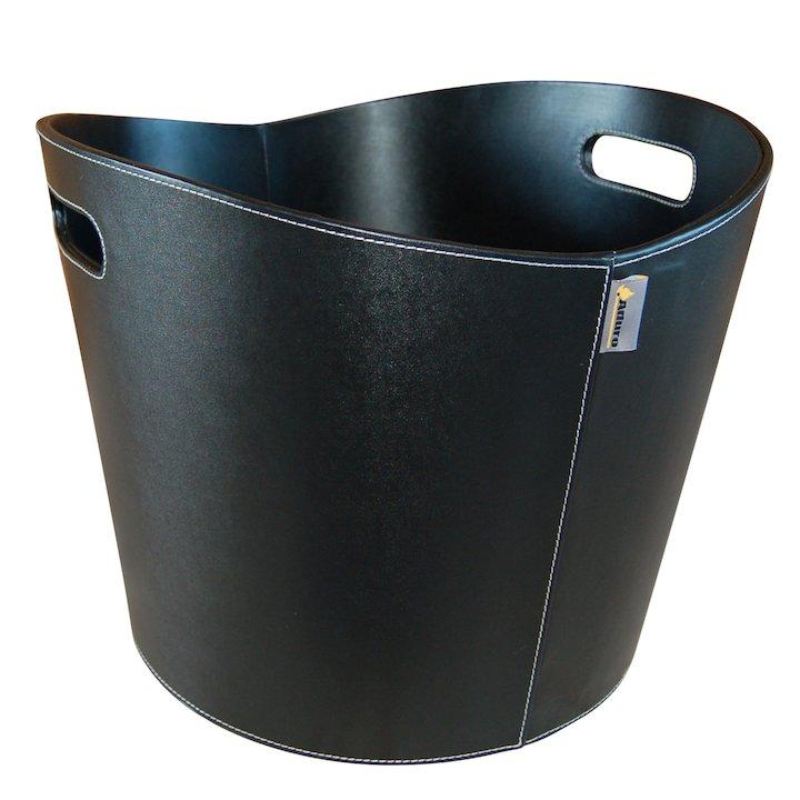Aduro Proline Round Log Basket - Black