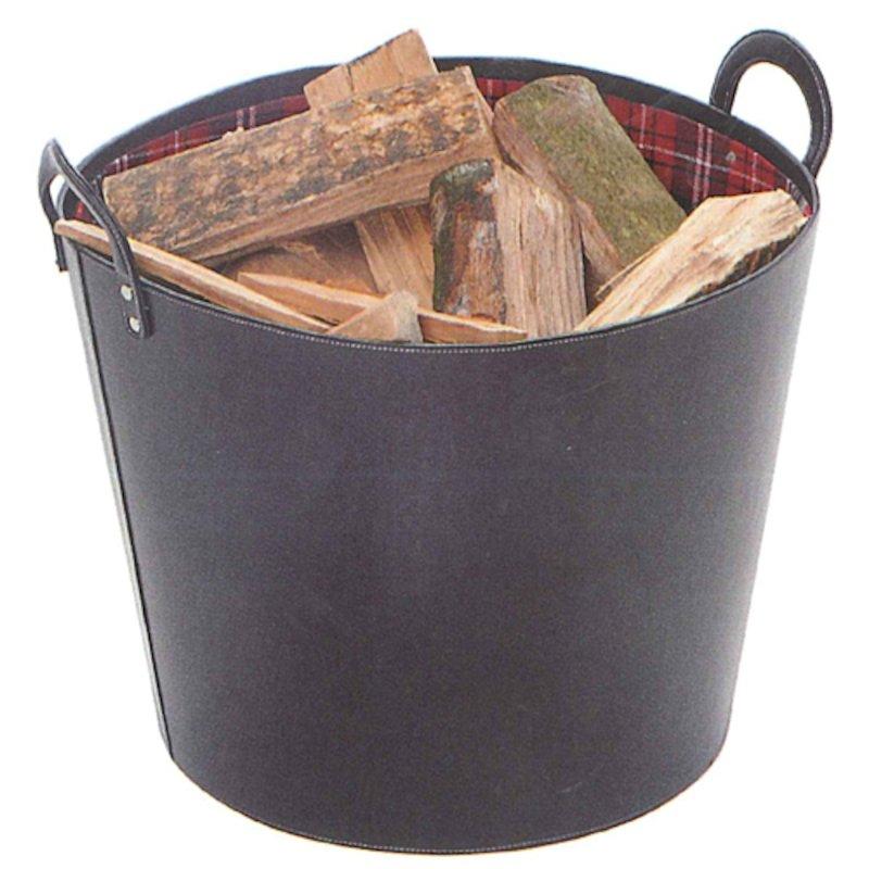 Sirius Round Maxi Log Basket - Black