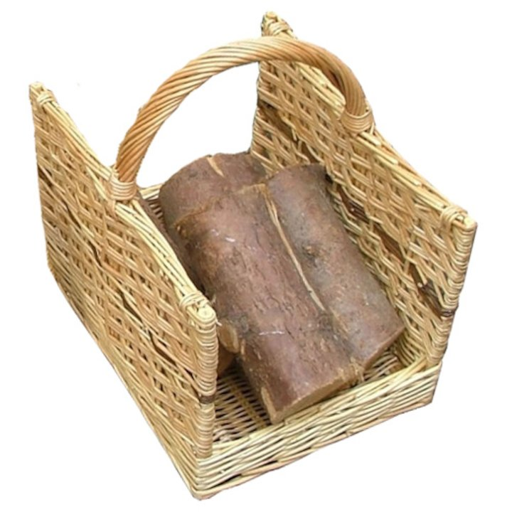 Calfire Open End Medium Log Basket - Brown