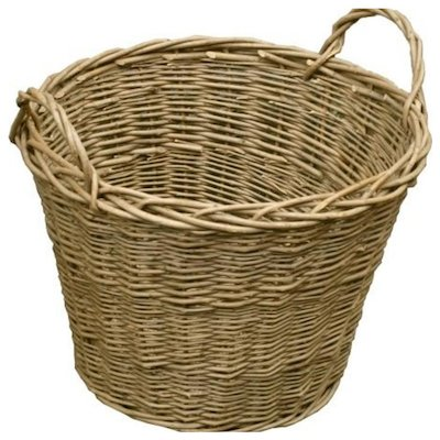 Calfire Wild Willow Log Basket Brown Standard