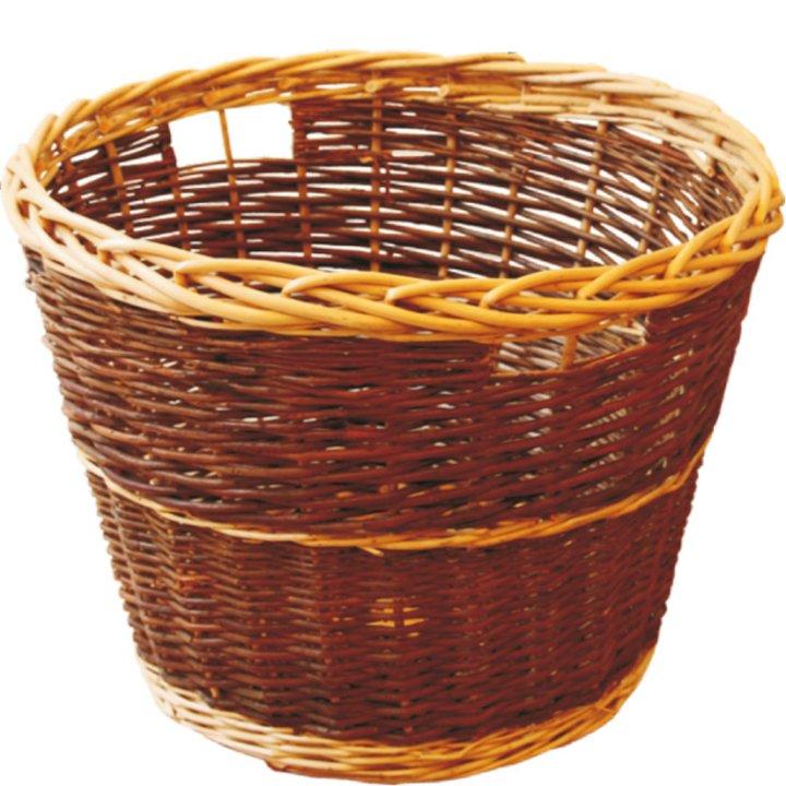 Calfire Round Rustic Log Basket - Brown