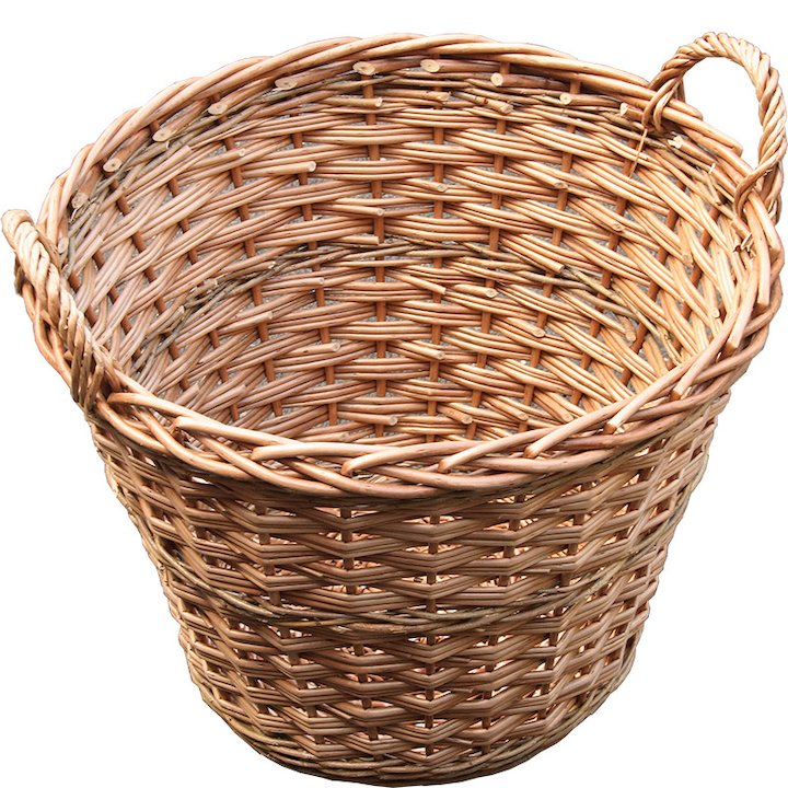 Calfire Round Basic Log Basket - Brown