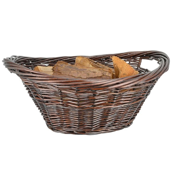 Manor Cradle Log Basket - Brown