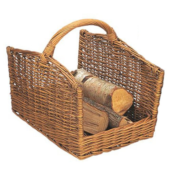 Manor Cutcombe Large Log Basket - Brown