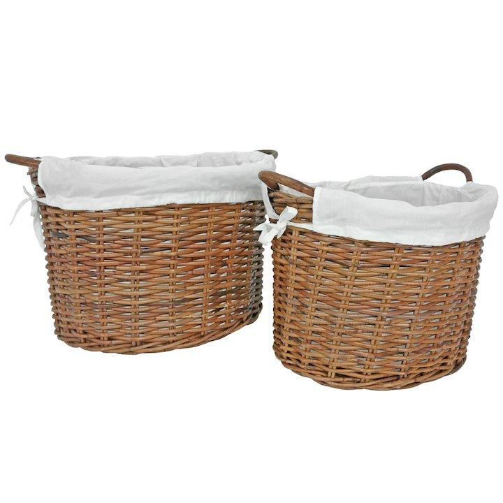 Manor Savoy Log Baskets - Set of 2 - Brown