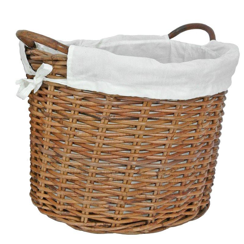 Manor Savoy Small Log Basket - Brown