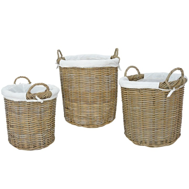 Manor Langham Log Baskets - Set of 3 - Brown