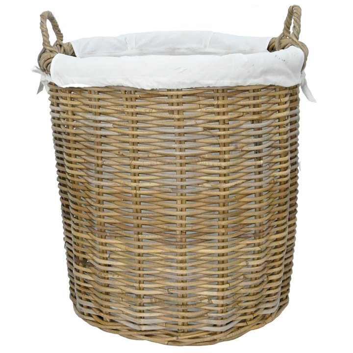 Manor Langham Large Log Basket - Brown