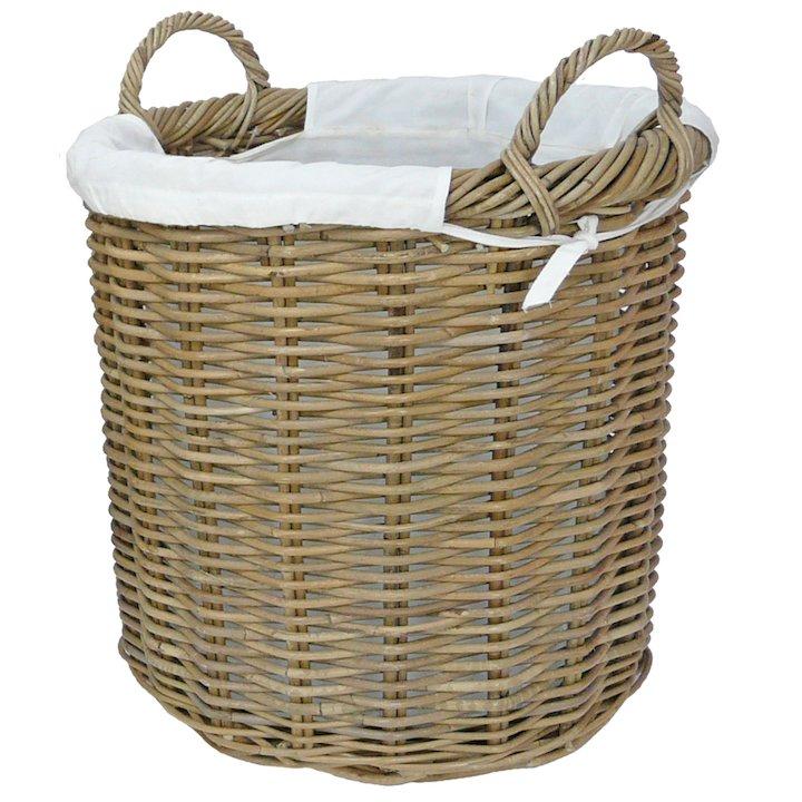 Manor Langham Medium Log Basket - Brown