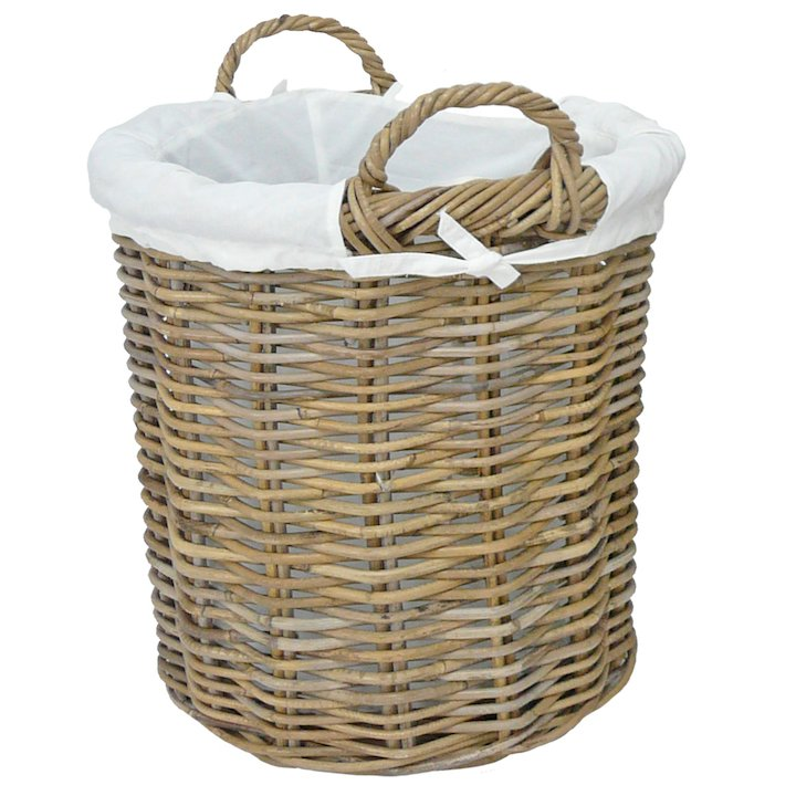 Manor Langham Small Log Basket - Brown