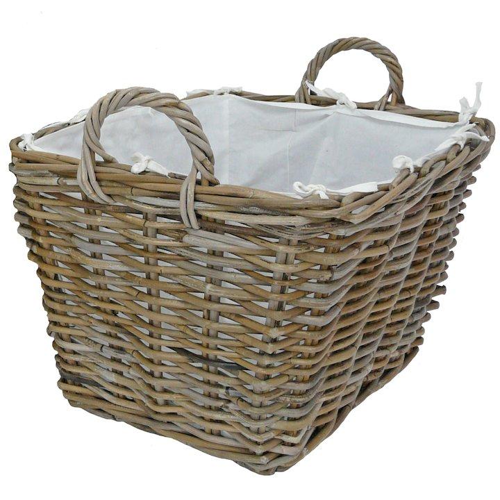 Manor Grosvenor Large Log Basket - Brown
