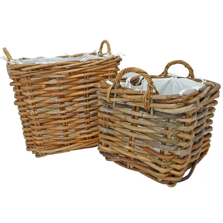 Manor Dorchester Log Baskets - Set of 2 - Brown