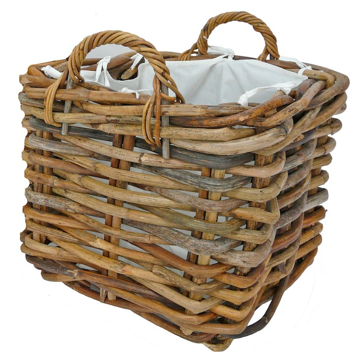 Manor Dorchester Large Log Basket - Brown