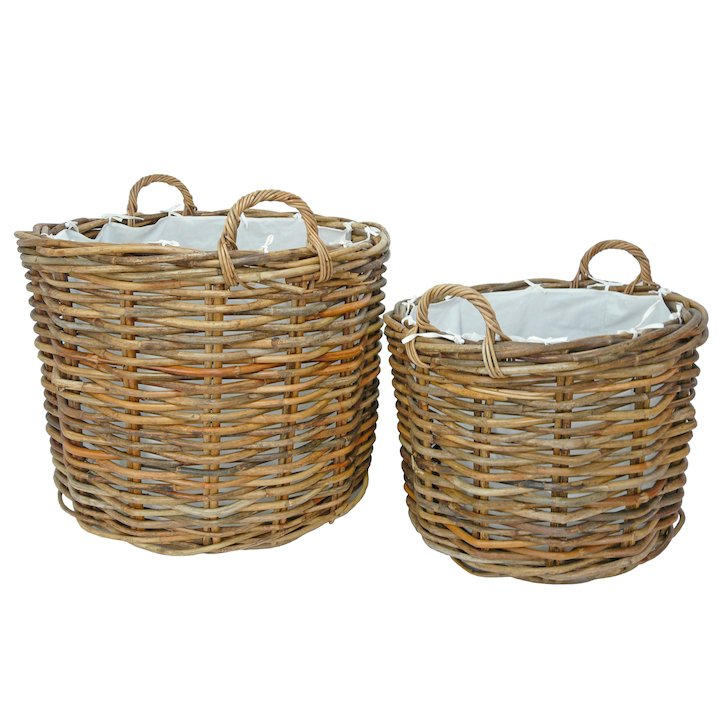 Manor Ritz Log Baskets - Set of 2 - Brown