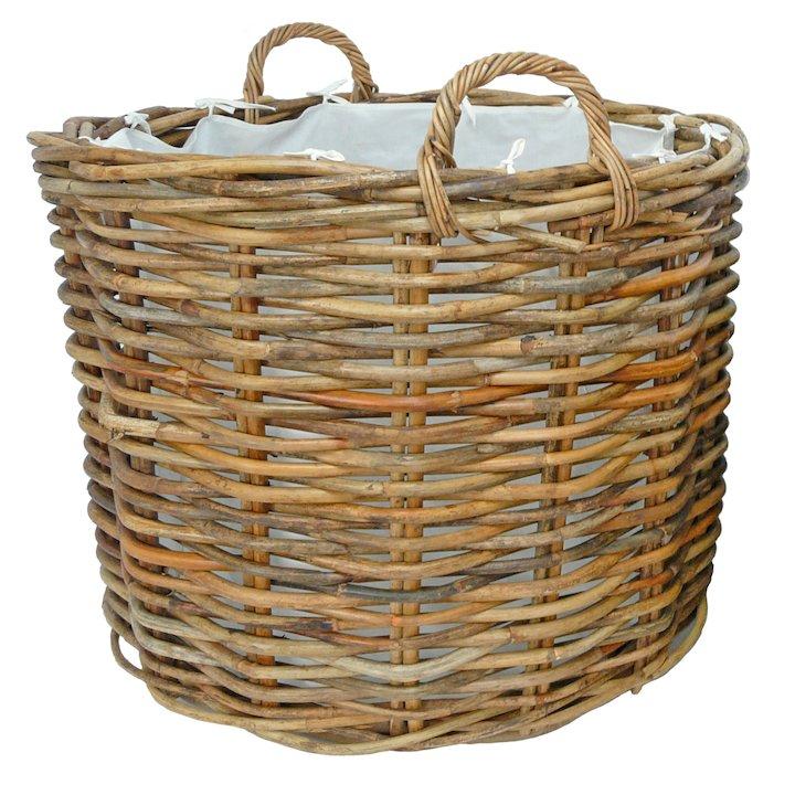 Manor Ritz Large Log Basket - Brown