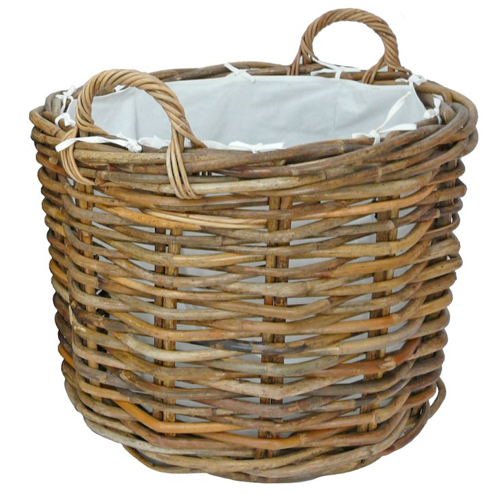 Manor Ritz Small Log Basket - Brown