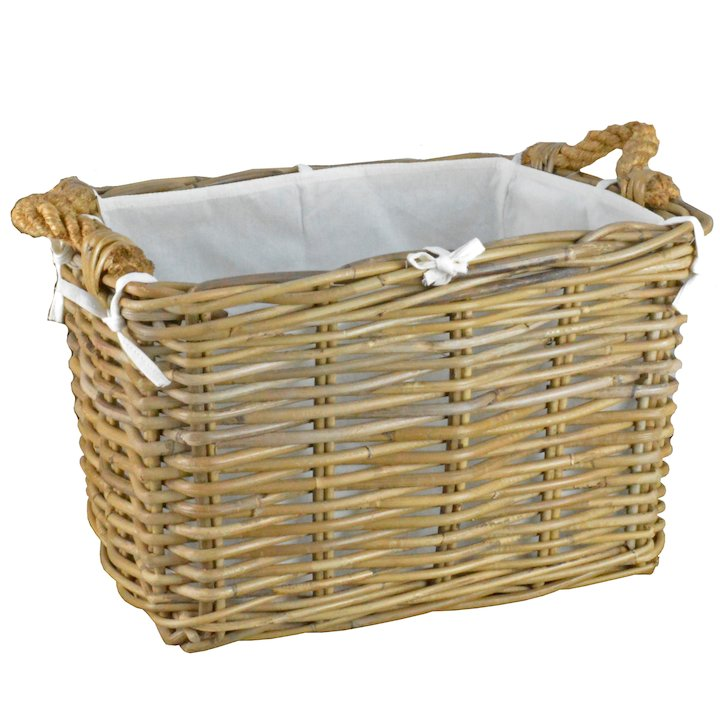 Manor Hilton Medium Log Basket - Brown