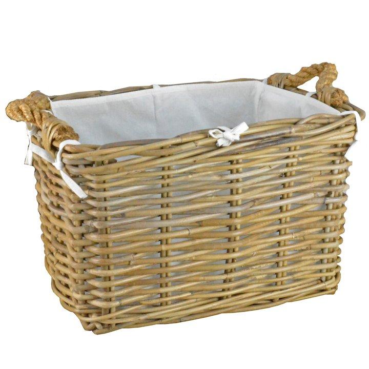 Manor Hilton Small Log Basket - Brown