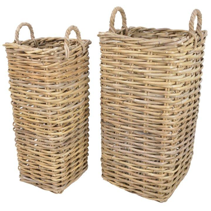 Manor Marriott Log Baskets - Set of 2 - Brown