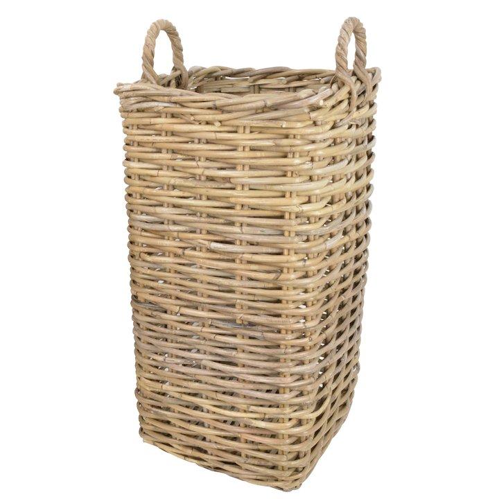 Manor Marriott Large Log Basket - Brown