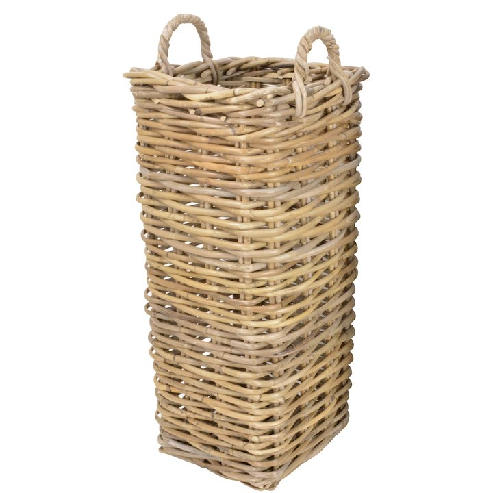 Manor Marriott Small Log Basket - Brown