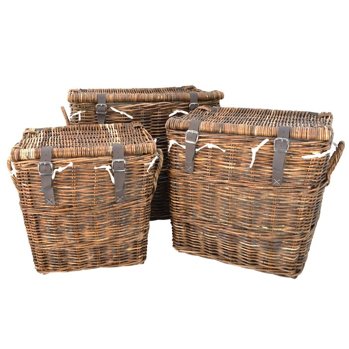 Manor Washington Log Baskets - Set of 3 - Brown