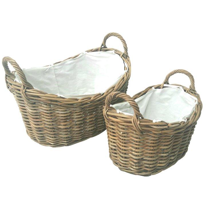 Manor Soho Log Baskets - Set of 2 - Brown