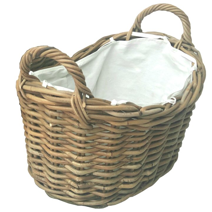 Manor Soho Large Log Basket - Brown