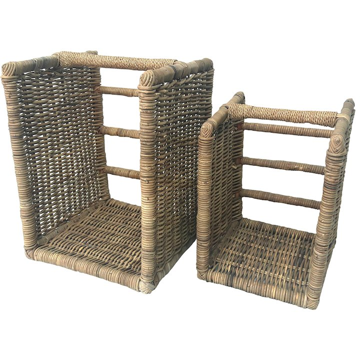 Manor Beaumont Log Baskets - Set of 2 - Brown