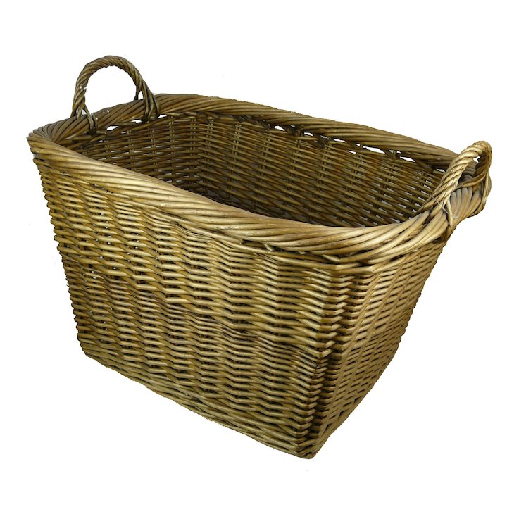 Manor Country 67 Large Log Basket - Brown