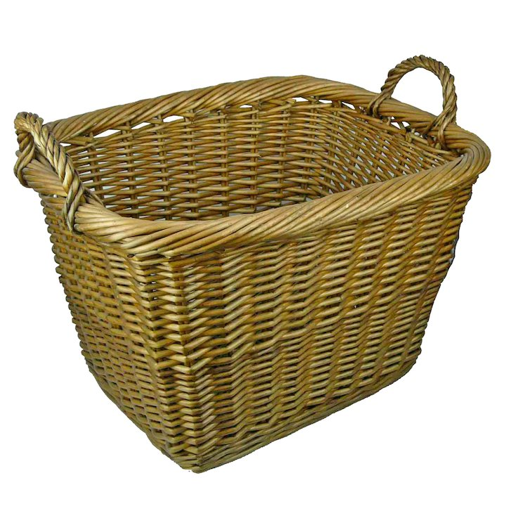 Manor Country 57 Small Log Basket - Brown