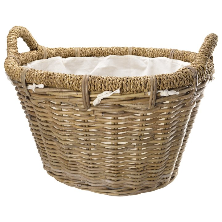 Manor Rosewood Log Basket - Brown