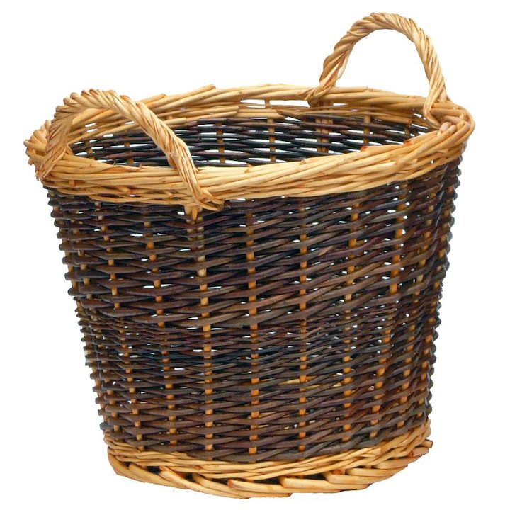 Manor Duo Tone Small Log Basket - Brown