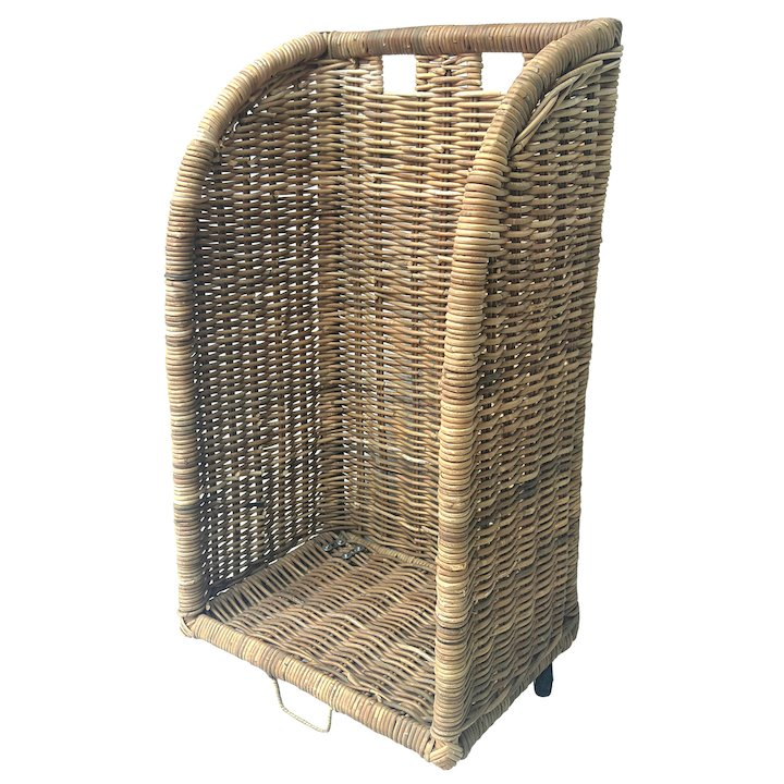 Manor Haymarket Log Basket - With Wheels - Brown