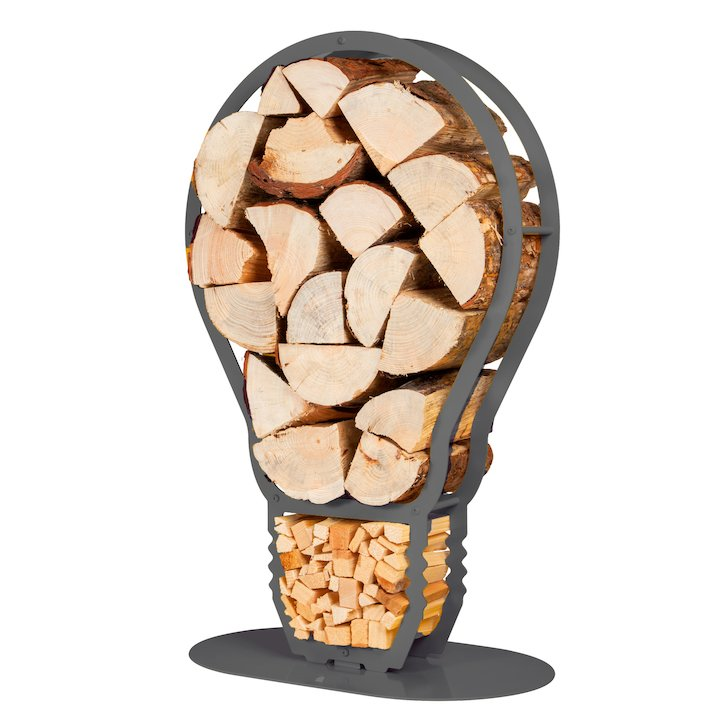 Ardour Lightbulb Log Holder - Grey