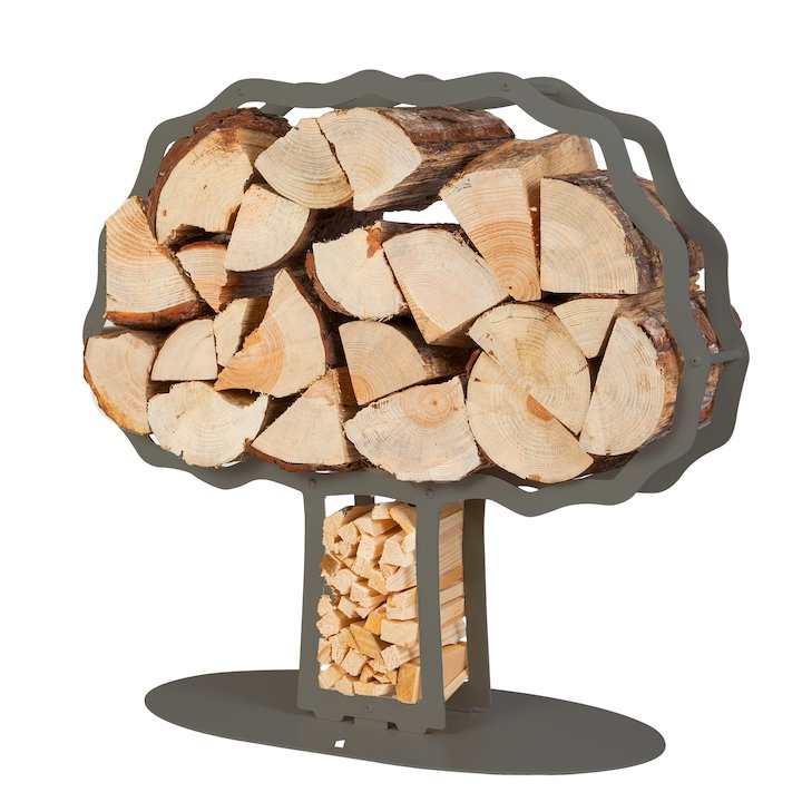 Ardour Oaktree Log Holder - Grey
