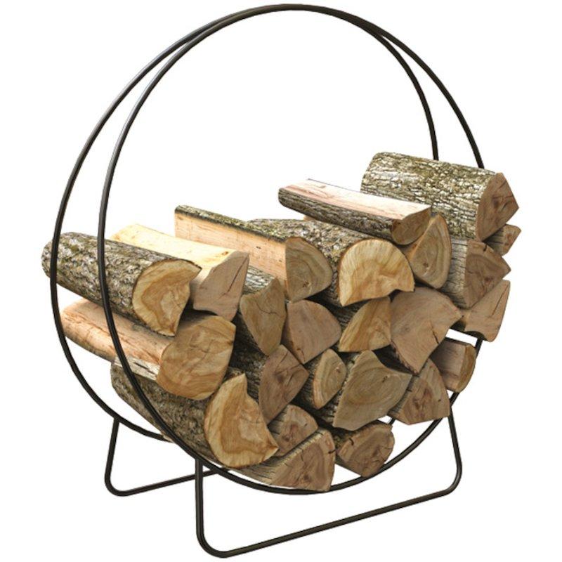Calfire Ring Small Log Holder - Black