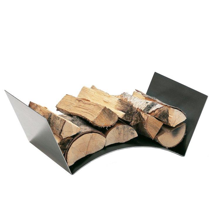 Conmoto Wood Bridge Log Holder - Stainless Steel