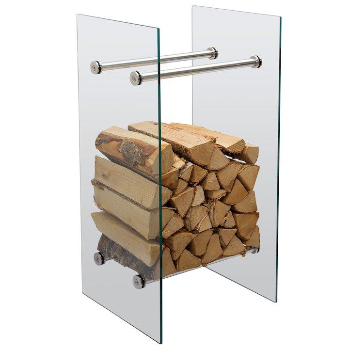 Jotul High Glass Log Holder - Clear