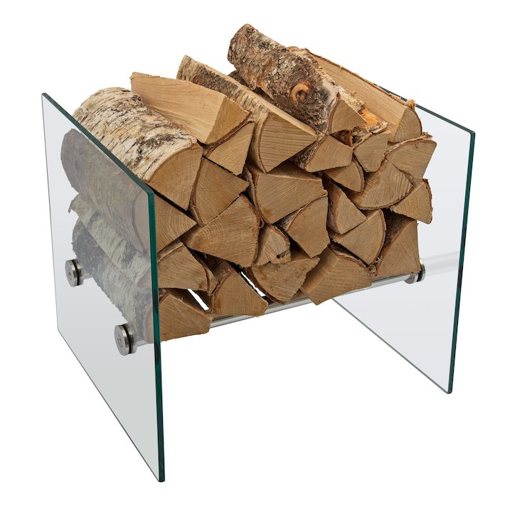 Jotul Low Glass Log Holder - Clear