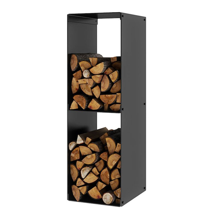 Rais Firewood 2 Rack Log Holder - Black