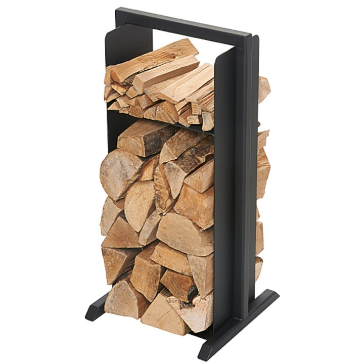 Sirius Lido Small Log Holder - Black