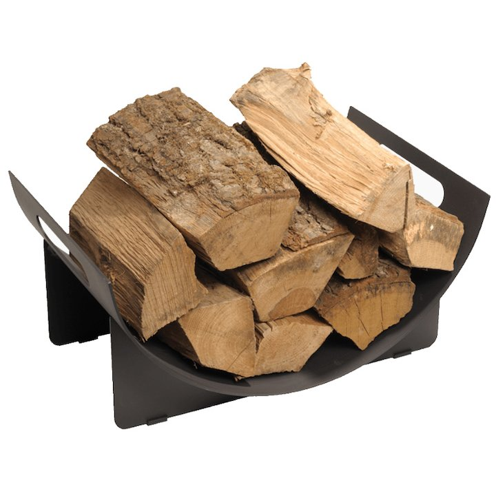 Stovax Curved Small Log Holder - Black