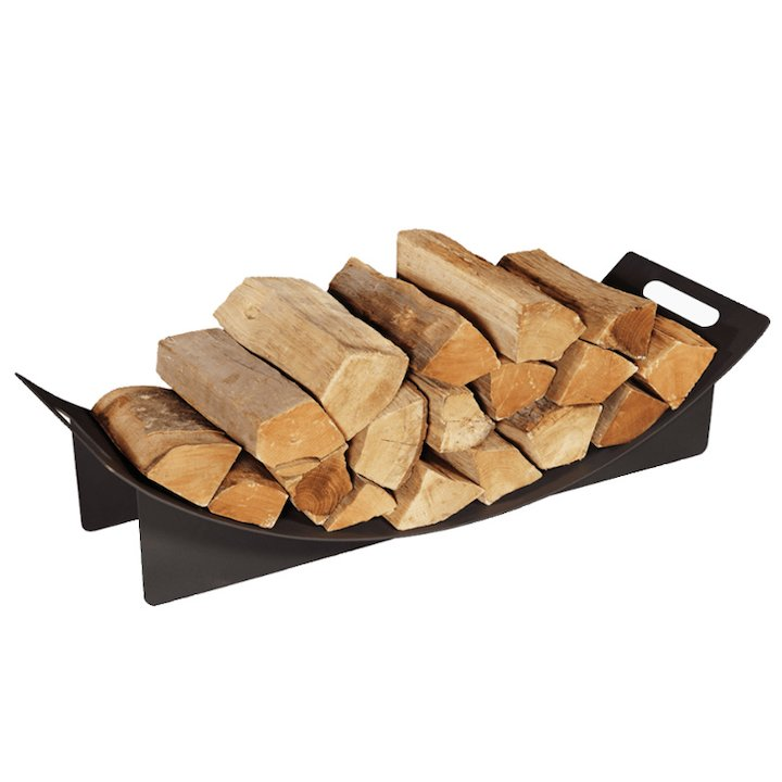 Stovax Curved Large Log Holder - Black