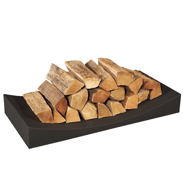 Stovax Radius Large Log Holder - Black