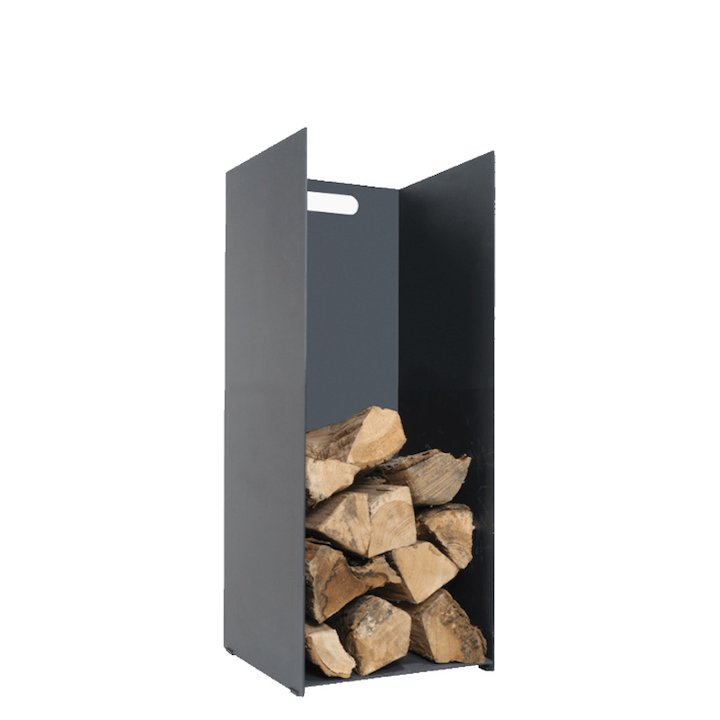 Stovax Contemporary Small Log Holder - Black