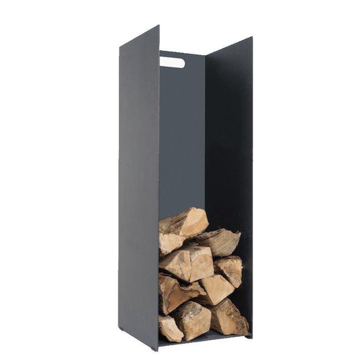 Stovax Contemporary Medium Log Holder - Black